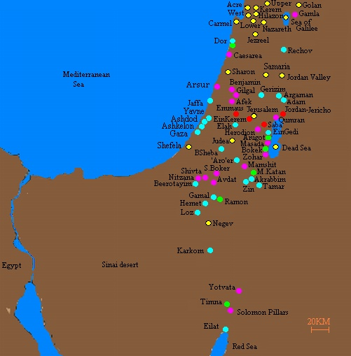 BibleWalks Holy Land sites review tours and photos – Israel Tourist Attractions Map