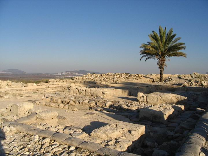 Megiddo - north side (stables and palace, Israelite period)
