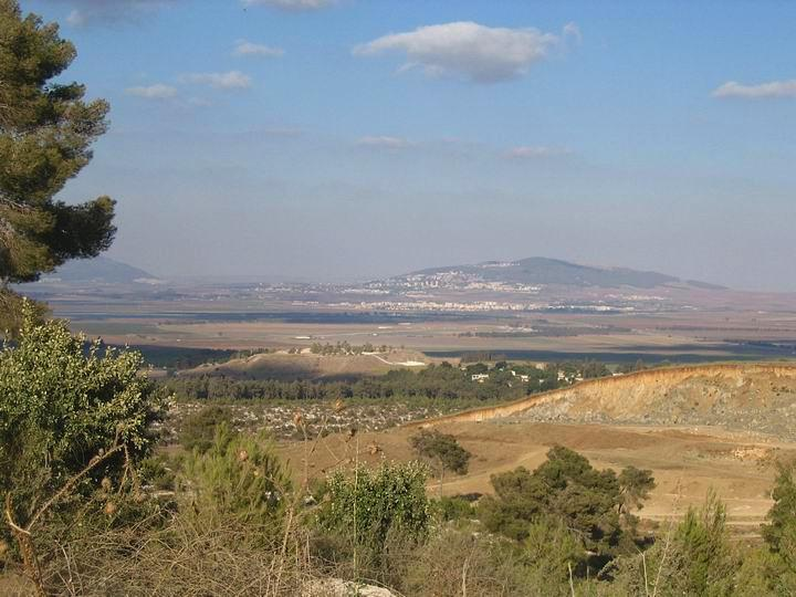 Tell Megiddo from the south hills