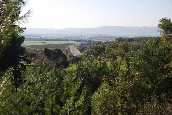 Ma'Alul/Nahalal: view towards south