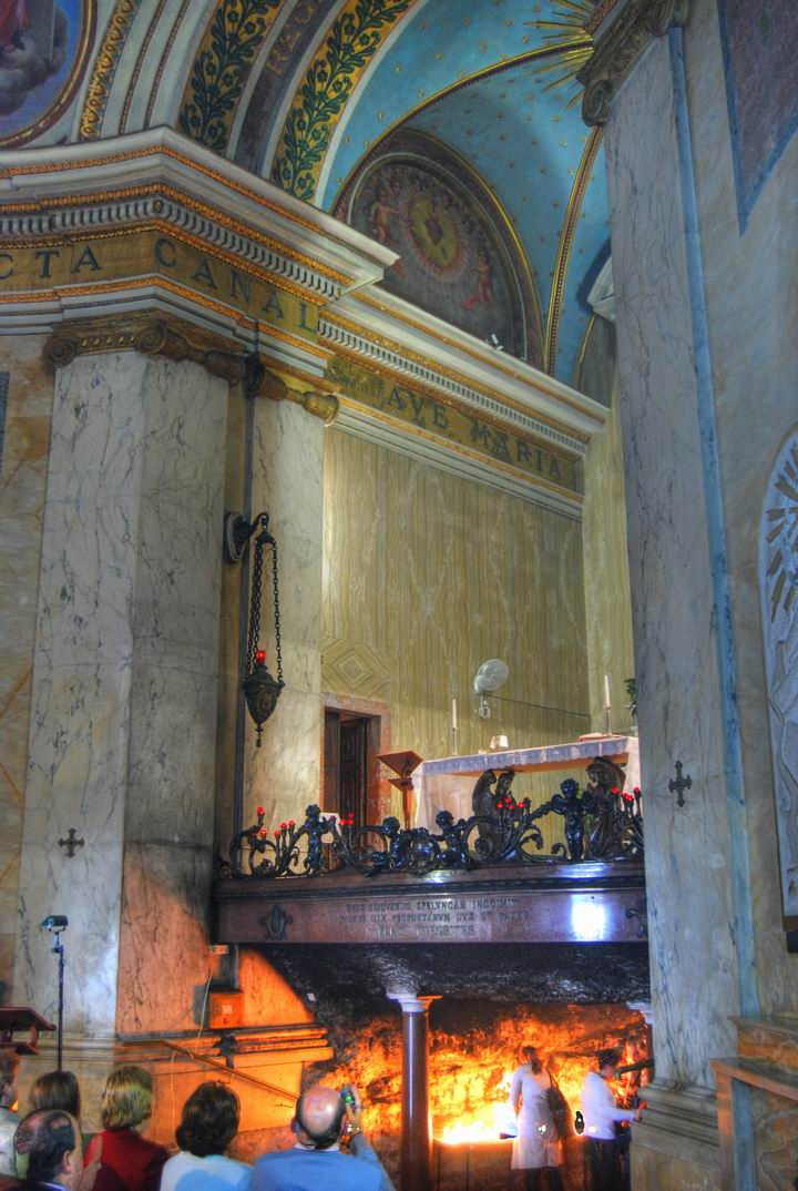 The cave of Elijah under the altar
