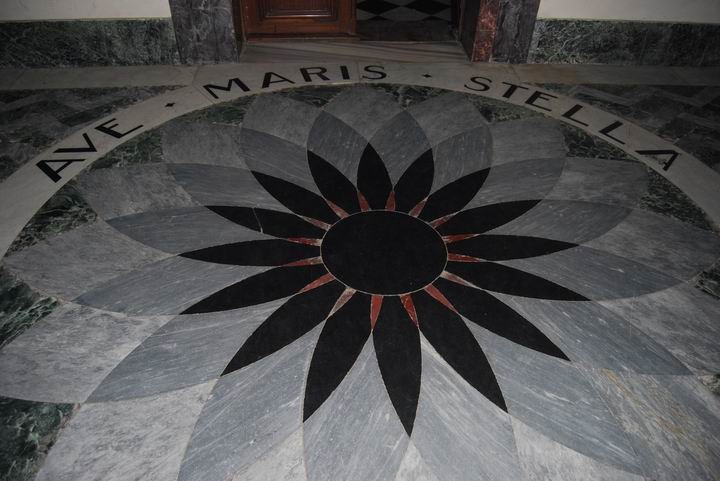 Floor on the entrance to the church