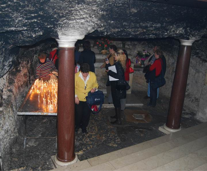 The cave under the altar