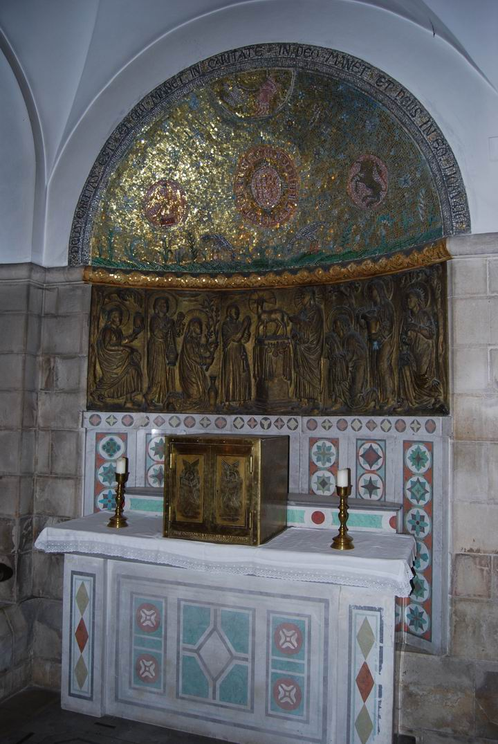 Dormition Abbey, mount Zion: the crypt