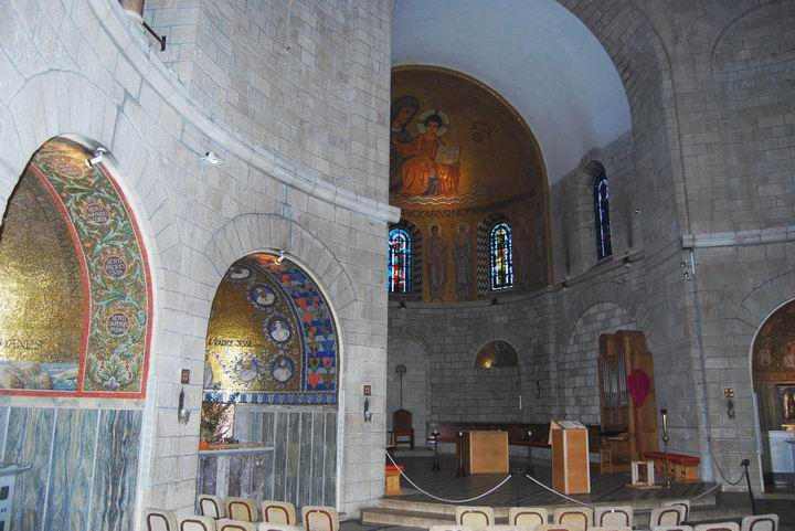 Dormition Abbey, mount Zion: the church