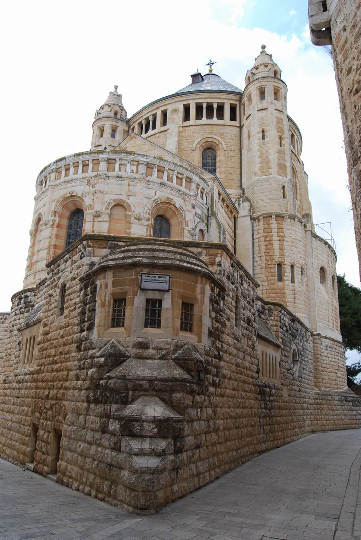 Dormition Abbey, mount Zion: view from the north-east