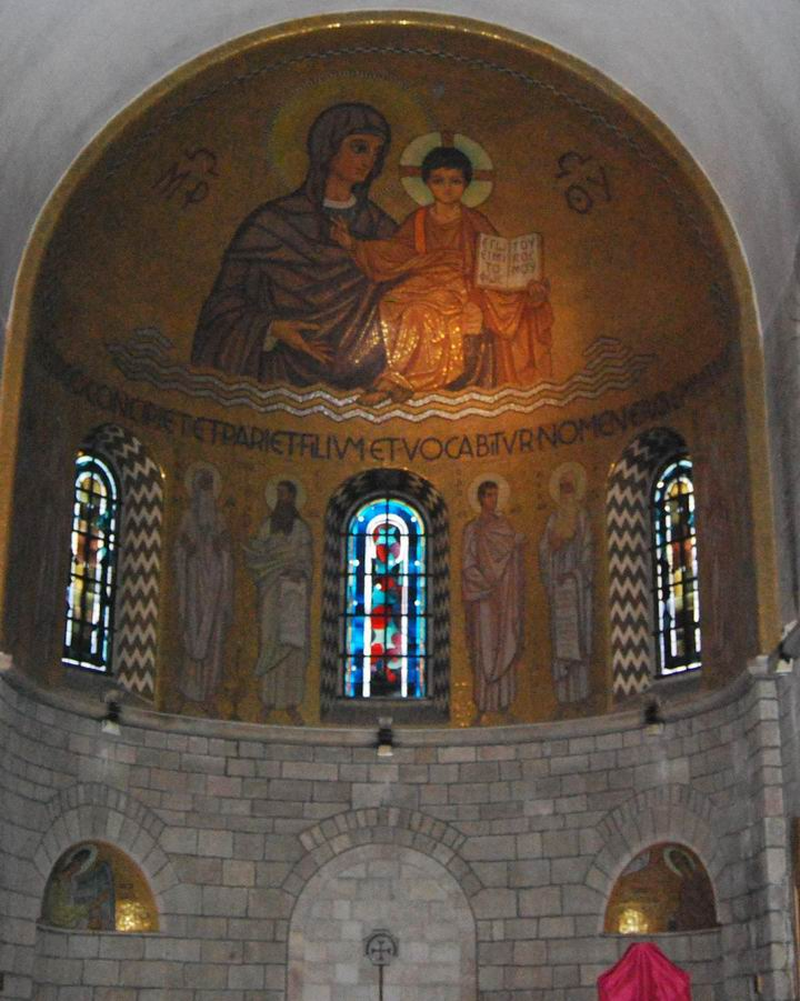 Dormition abbey: central apse