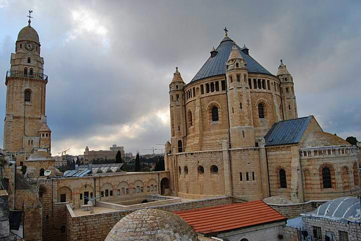 Dormition Abbey, mount Zion: view from the east