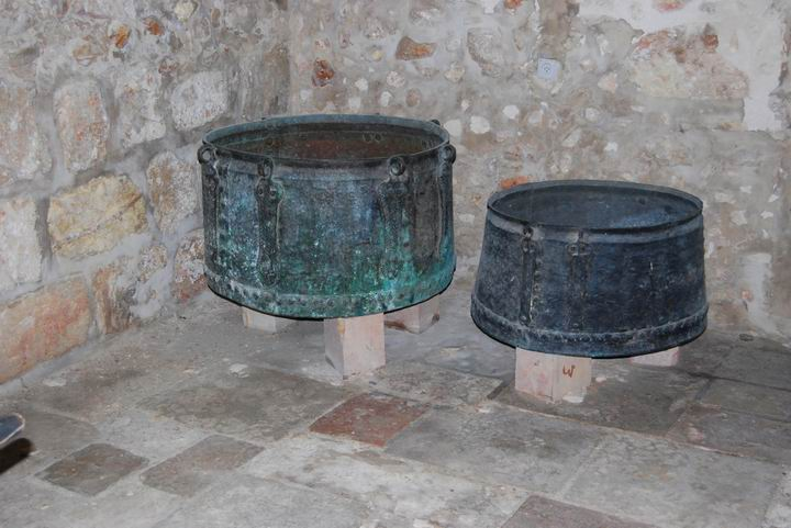 Cooking pots  at the Monastery's Kitchen
