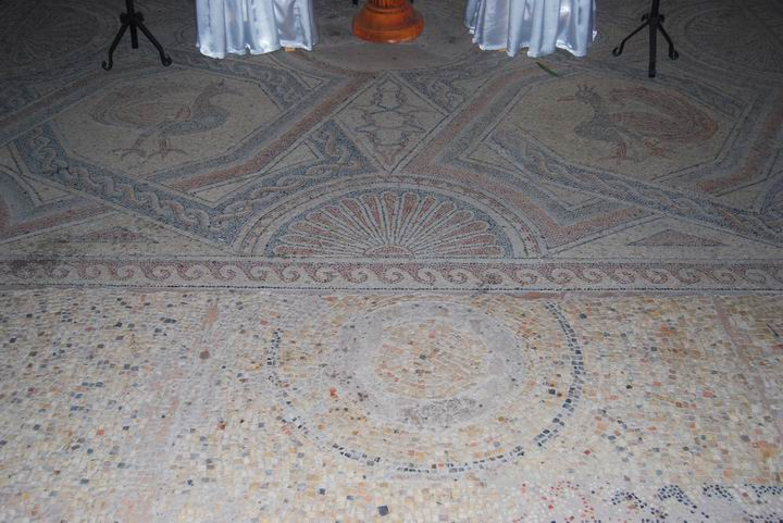 Ancient mosaic near the septum