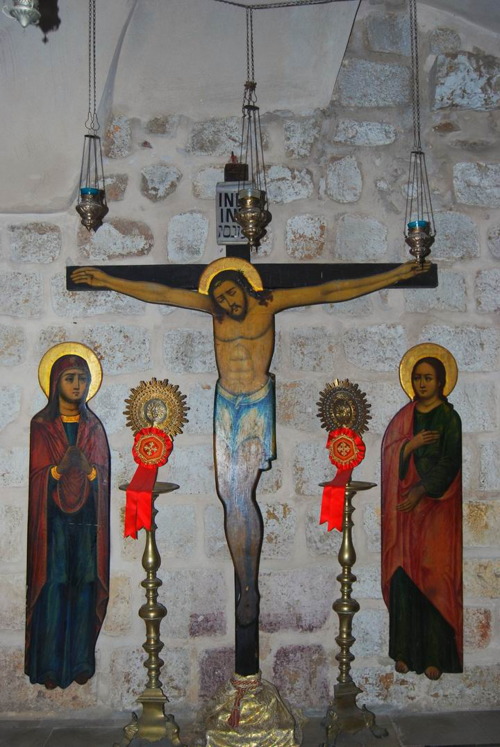 Hall of the Holy tree: Jesus on the Cross; Mary & Mary witness