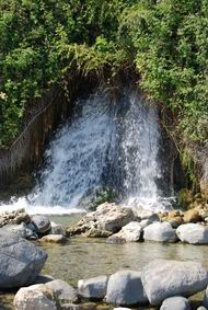 Job's waterfall and spring at Tabcha