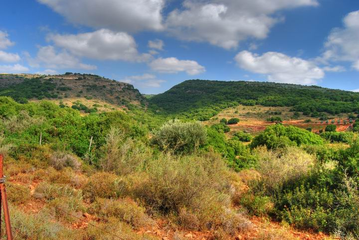 View of Khirbet Bilton, south-east to Beit Uriya