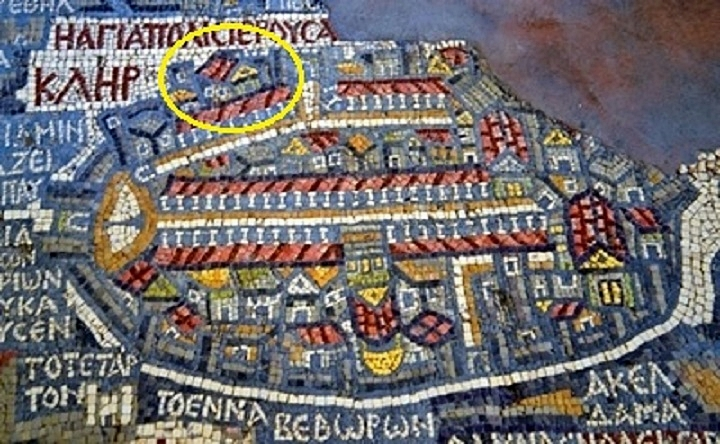 St. Mary of the Probatic on Madaba map