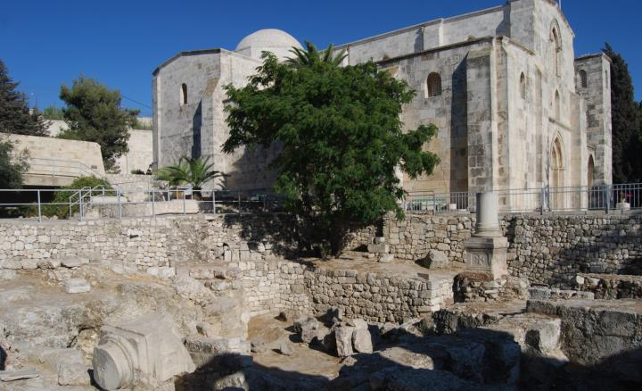 St Anna: on the south-east side of the baths