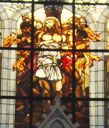 Flagellation chruch: Stained Glass window