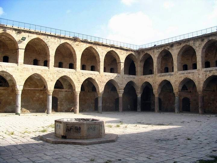 View inside the court yard of Khan al-Umdan.