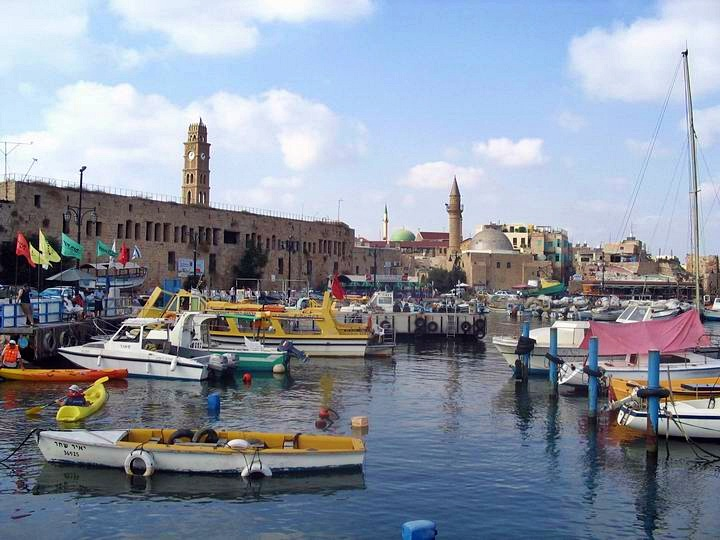 View from the port towards Khan al-Umdan