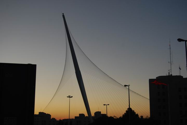 "Bridge of strings - ""David's harp"" - dusk view from the east"