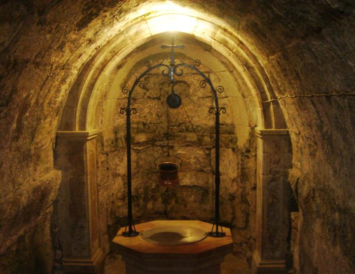 Visitation church: ancient well
