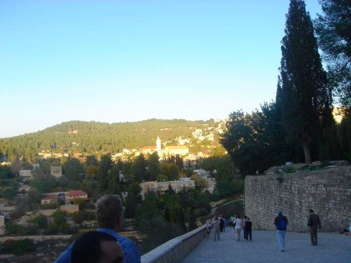 Ein Karem - view of the path towards the east