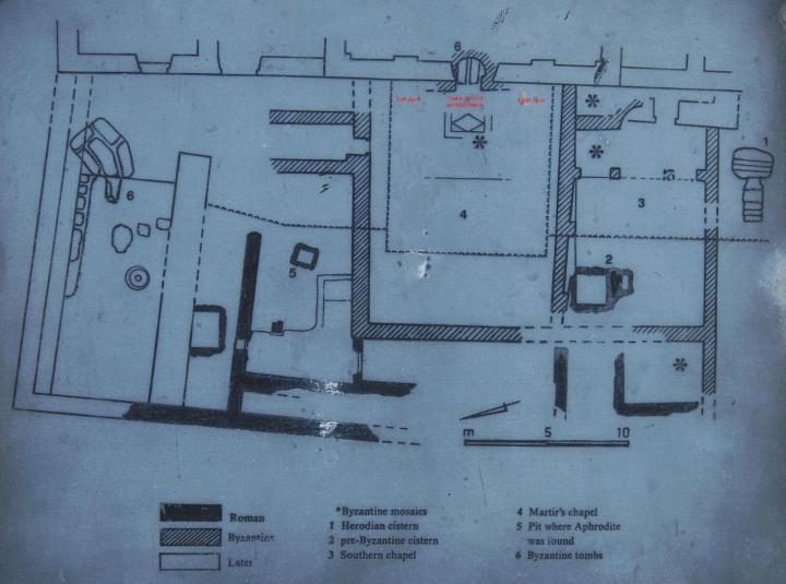 St John - Map of excavations