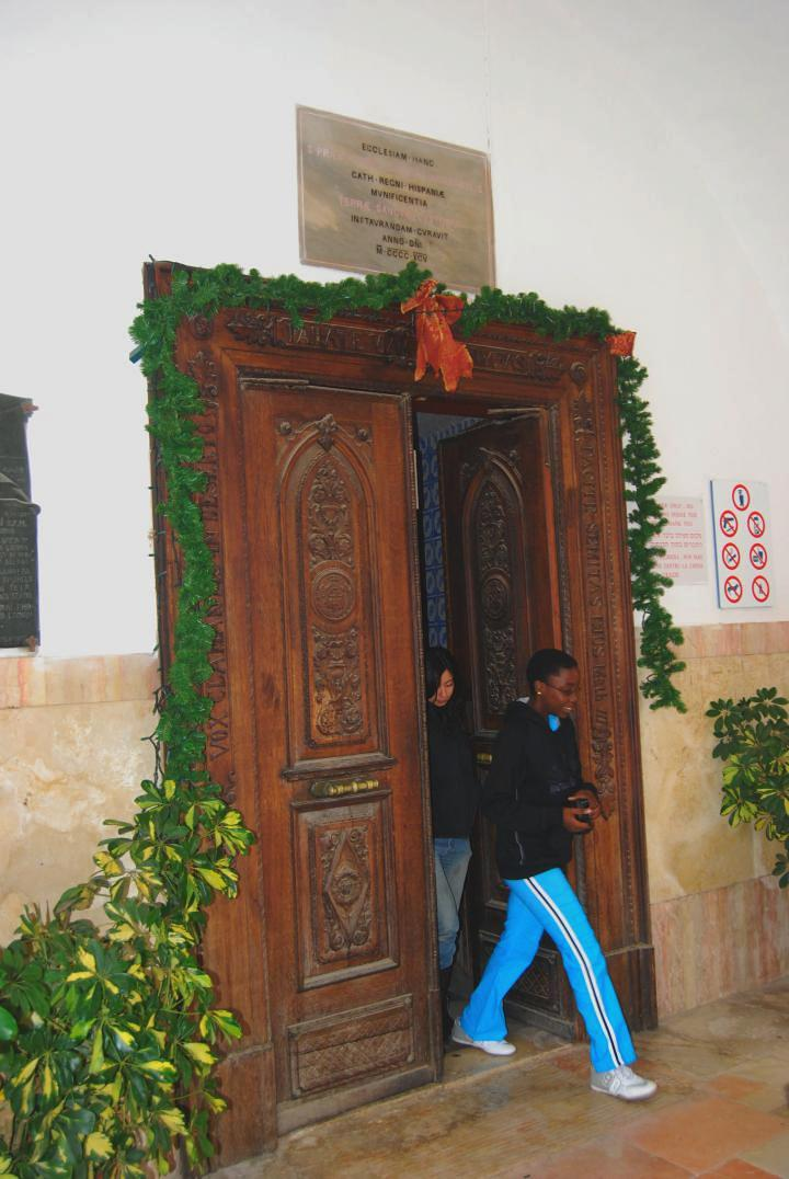 St John, Ein Kerem  - entrance to the church