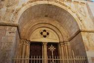 Arch in the Redeemer church, with Crusader elements