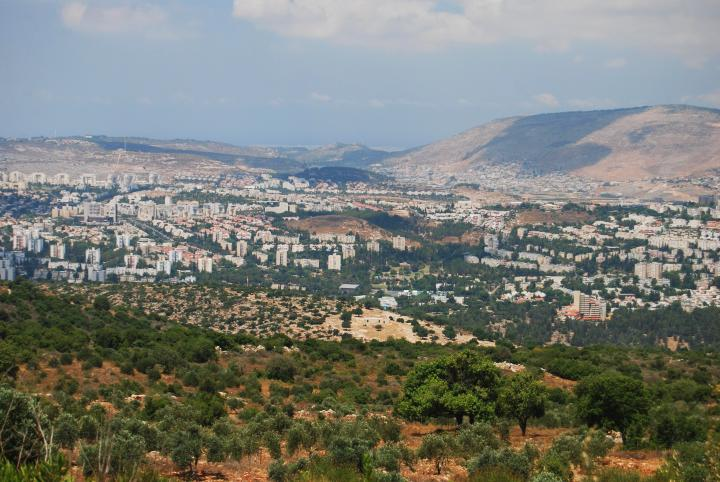 View of Karmiel from Mt Kamon, south-east side