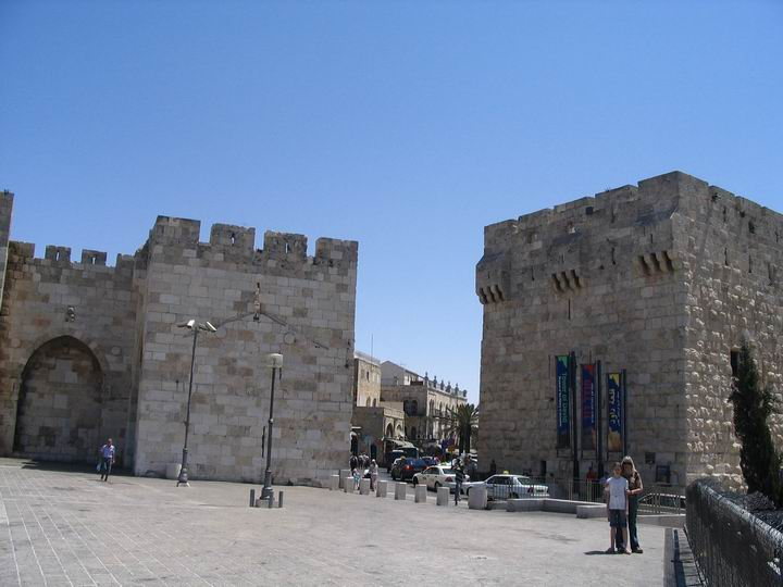 Jaffa gate from the west side.
