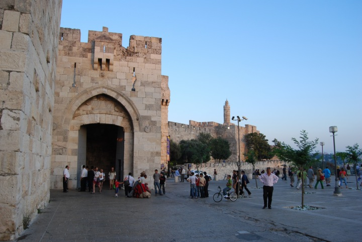 View of Jaffa gate from the north side.