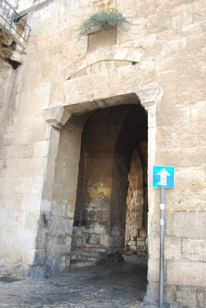 Zion gate - detailed view from the old city.