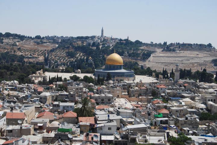 View of temple mount - from the west