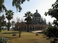 View of the church on Mt of Beatitudes