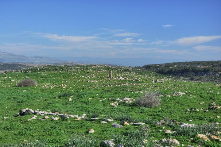 Khirbet Ammudim - view from the south