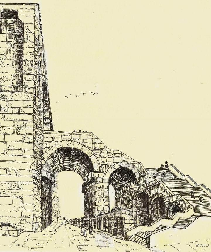 East Wall arch