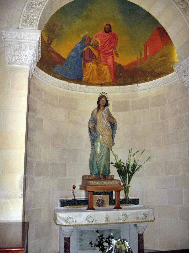 Inside the church of St Joseph.