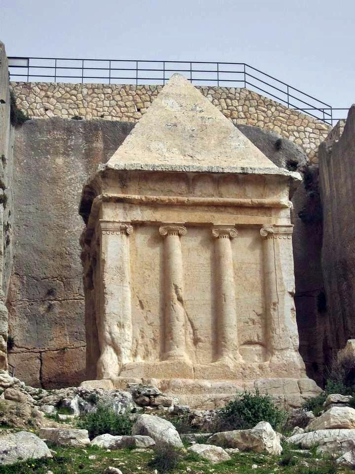 Tomb of Zecharia on the foothills of Mount of Olives.