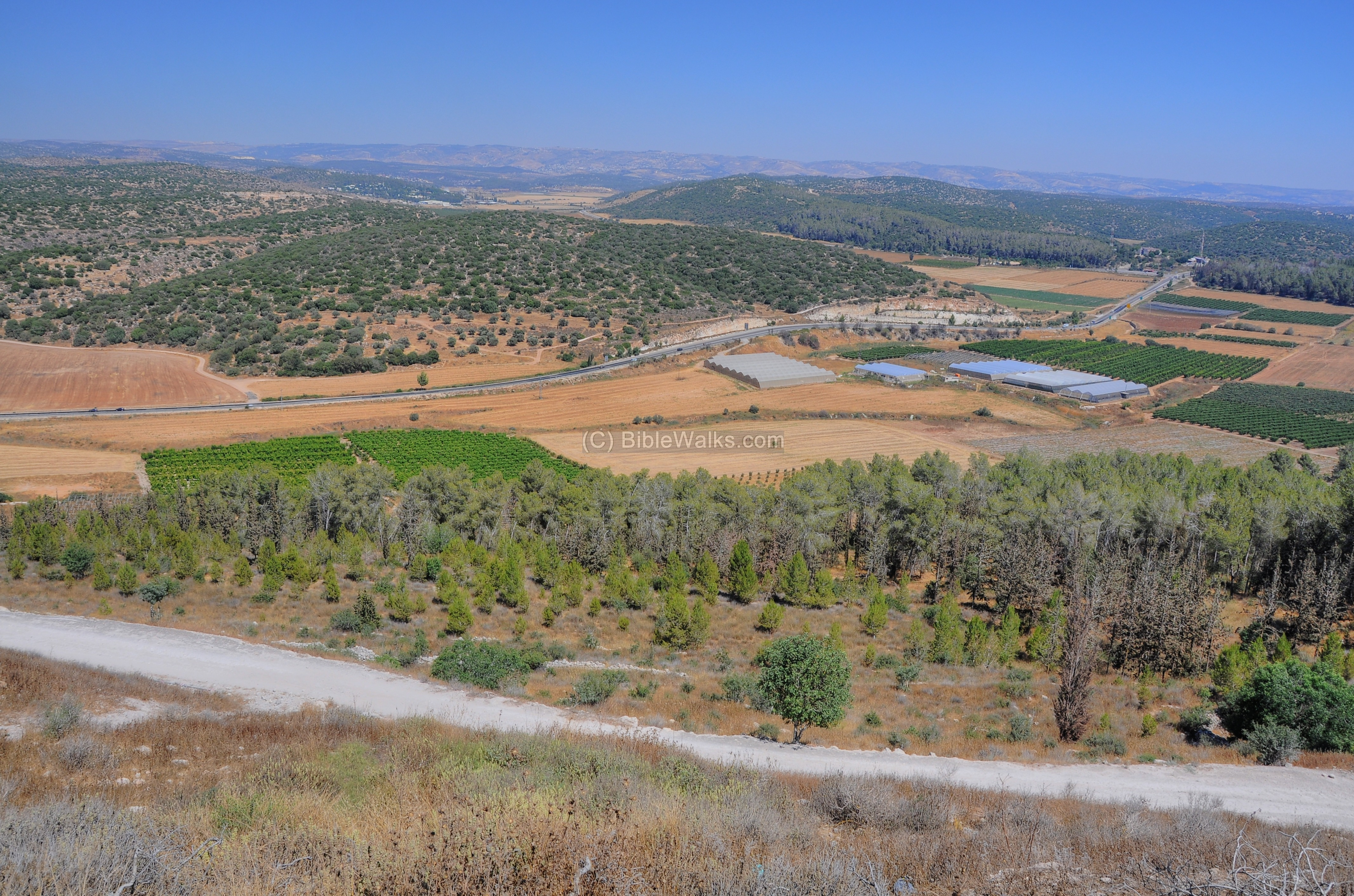 Valley Of Elah Map Distance From Bethlehem To Valley Of Elah