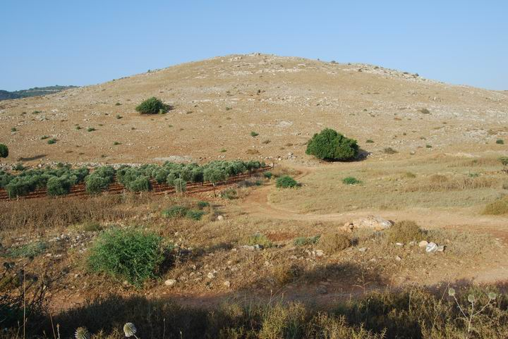 Khirbet Cana from the south side.