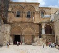 Entrance to the Church of Holy Sepulcher, Jerusalem.