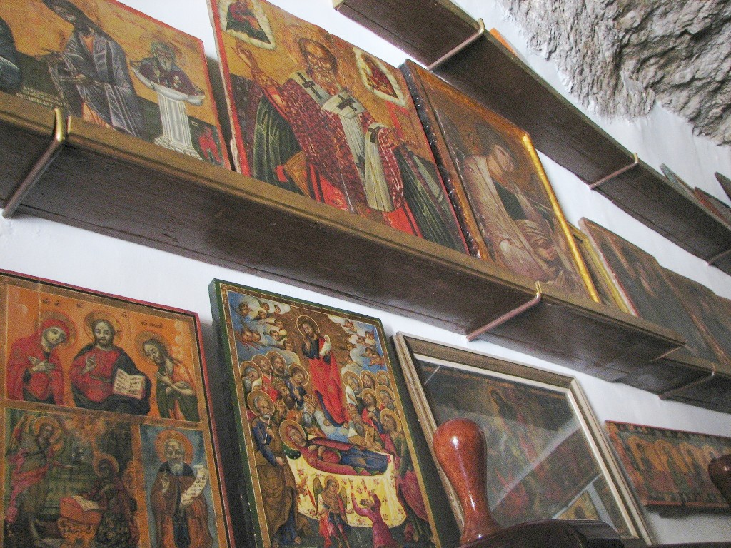 Rare paintings in the monastery of Mar Saba.