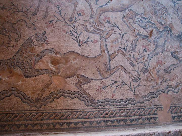 Sepphoris: Nile house - huntings scenes