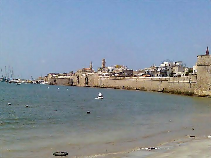 Old city of Acre, view from the land gate on the south east corner.