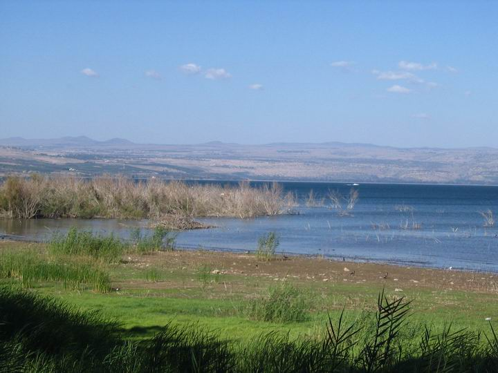 Magdala's port is submerged under the sea of Galilee.