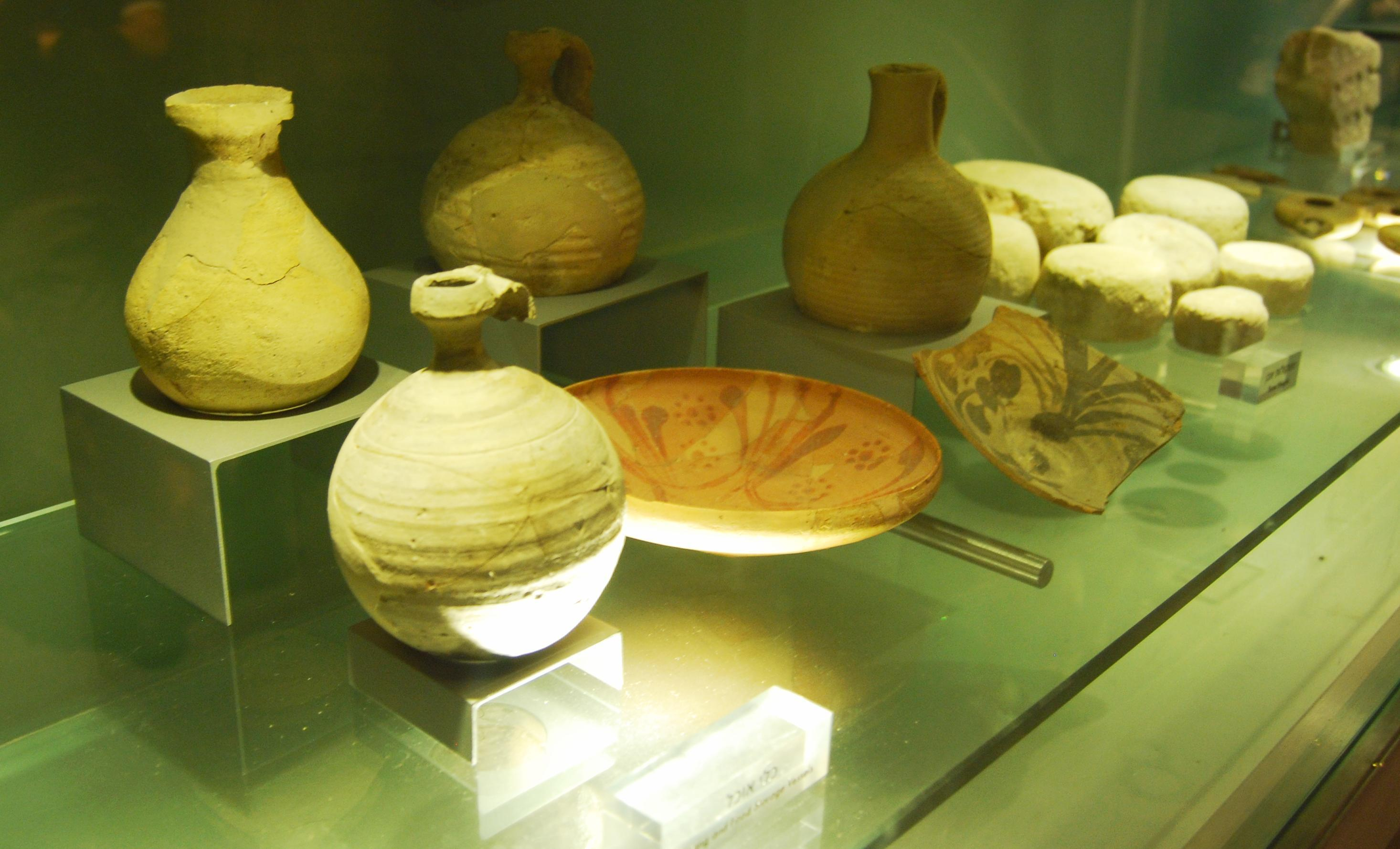 Roman kitchenware in the burnt house.