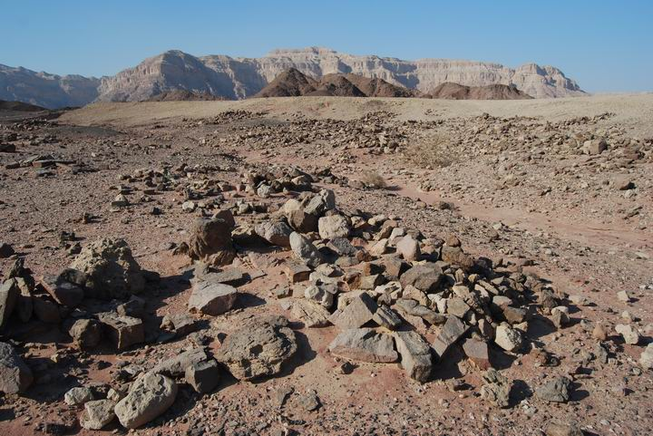 Timna: ruins of miners camps near the mushroom