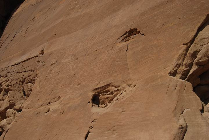 "Timna: Rock drawings on the face of the external rock, near ""the chariots"" site"