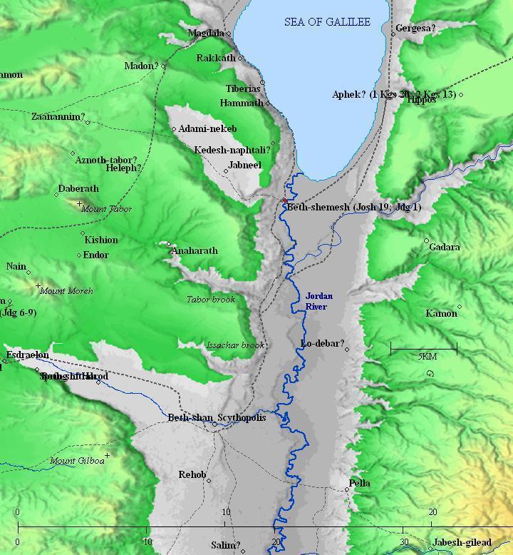 Beth Shemesh Bible Maps: Tell Obeidiya