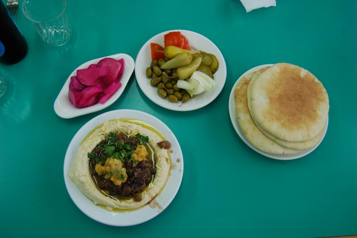 A typical humus meal.
